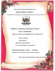 Children's Christmas Celebration Service @ Hampton Inn | Frederick | Maryland | United States